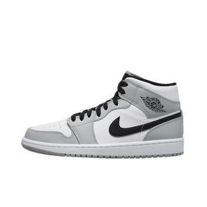 Fake Jordan 1 Mid Light Smoke Grey