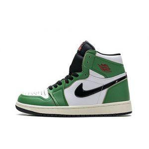 Womens Fake Jordan 1 High Lucky Green